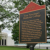 1st Veterinary College Sign