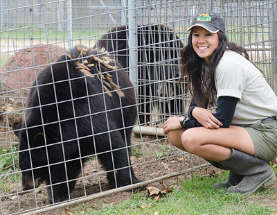 Erica Moscoso with bear